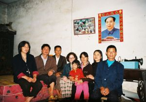 With Liu Zishun and his family in Wangchong