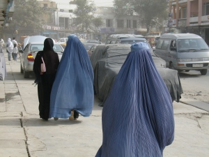 Many Afghan women in Kabul still wear the Burqa