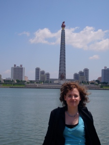 Juche Tower in Pyongyang, 2007.