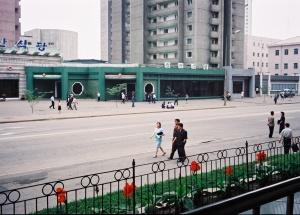 Pedestrians in Pyongyang