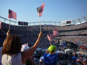 Obama's nomination at Denver's Mile High Stadium