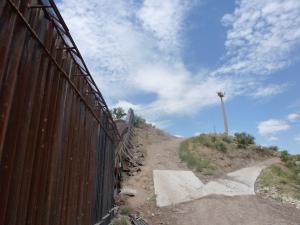Border fence in Nogales