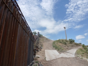 Border fence in Nogales