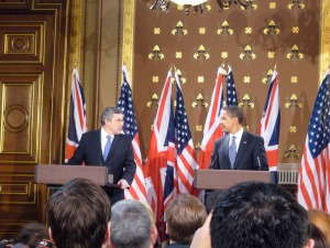 Obama meets British PM Gordon Brown