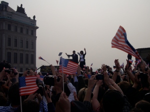 Vision of a peaceful world: Obama in Prague