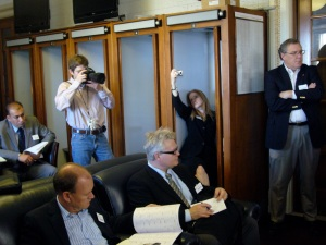 Never bored: Reporters in the Senate Press Gallery